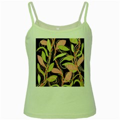 Pink and ocher ivy Green Spaghetti Tank