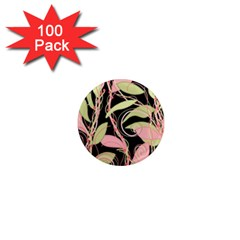 Pink and ocher ivy 1  Mini Magnets (100 pack)