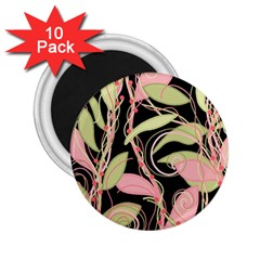 Pink and ocher ivy 2.25  Magnets (10 pack)