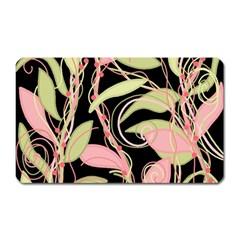 Pink and ocher ivy Magnet (Rectangular)