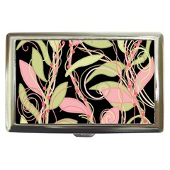 Pink and ocher ivy Cigarette Money Cases
