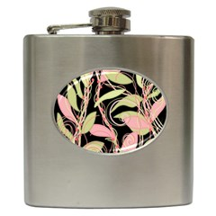 Pink and ocher ivy Hip Flask (6 oz)