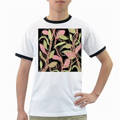 Pink and ocher ivy Ringer T-Shirts