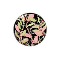 Pink and ocher ivy Hat Clip Ball Marker (10 pack)