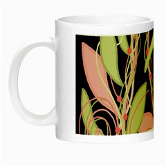Pink and ocher ivy Night Luminous Mugs