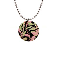 Pink and ocher ivy Button Necklaces