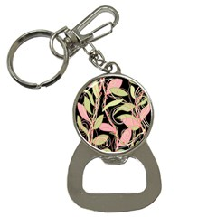 Pink and ocher ivy Bottle Opener Key Chains