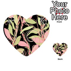 Pink and ocher ivy Playing Cards 54 (Heart)