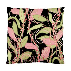 Pink and ocher ivy Standard Cushion Case (One Side)
