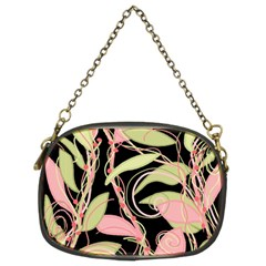 Pink and ocher ivy Chain Purses (Two Sides)