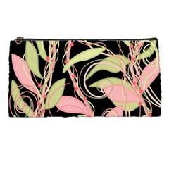 Pink and ocher ivy Pencil Cases