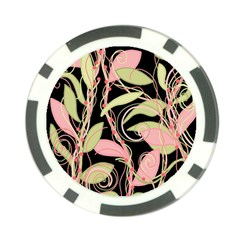 Pink and ocher ivy Poker Chip Card Guards (10 pack)