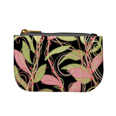 Pink and ocher ivy Mini Coin Purses