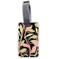 Pink and ocher ivy Luggage Tags (One Side)