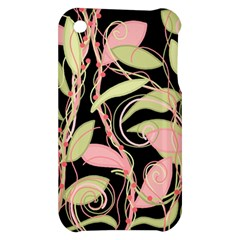 Pink and ocher ivy Apple iPhone 3G/3GS Hardshell Case