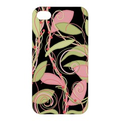 Pink and ocher ivy Apple iPhone 4/4S Hardshell Case