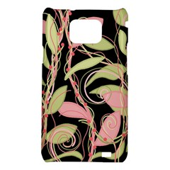 Pink and ocher ivy Samsung Galaxy S2 i9100 Hardshell Case