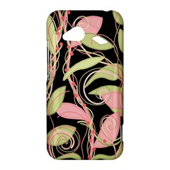 Pink and ocher ivy HTC Droid Incredible 4G LTE Hardshell Case