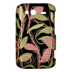 Pink and ocher ivy HTC Wildfire S A510e Hardshell Case