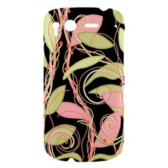 Pink and ocher ivy HTC Desire S Hardshell Case
