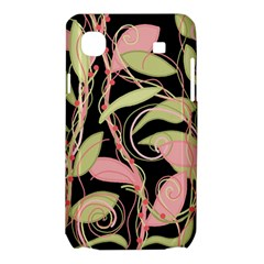 Pink and ocher ivy Samsung Galaxy SL i9003 Hardshell Case