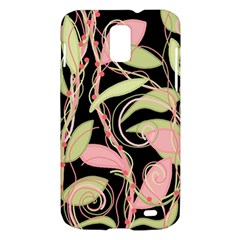 Pink and ocher ivy Samsung Galaxy S II Skyrocket Hardshell Case
