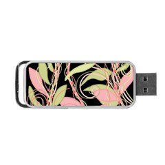 Pink and ocher ivy Portable USB Flash (Two Sides)