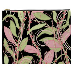 Pink and ocher ivy Cosmetic Bag (XXXL)