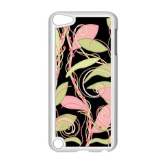 Pink and ocher ivy Apple iPod Touch 5 Case (White)