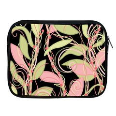 Pink and ocher ivy Apple iPad 2/3/4 Zipper Cases