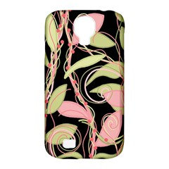 Pink and ocher ivy Samsung Galaxy S4 Classic Hardshell Case (PC+Silicone)