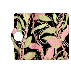 Pink and ocher ivy Kindle Fire HDX 8.9  Flip 360 Case
