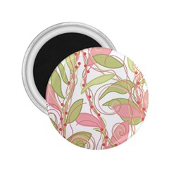 Pink and ocher ivy 2 2.25  Magnets