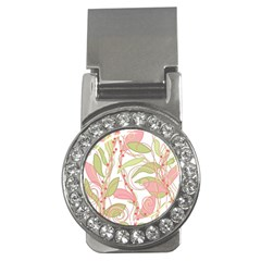 Pink and ocher ivy 2 Money Clips (CZ)
