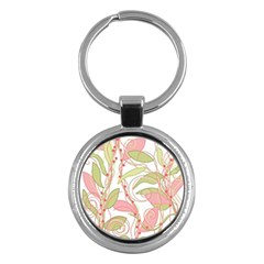 Pink and ocher ivy 2 Key Chains (Round)