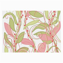 Pink and ocher ivy 2 Large Glasses Cloth (2-Side)
