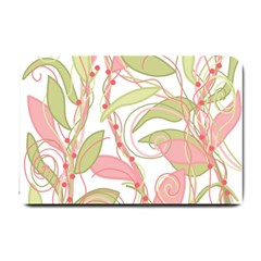 Pink and ocher ivy 2 Small Doormat