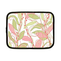 Pink and ocher ivy 2 Netbook Case (Small)