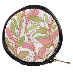 Pink and ocher ivy 2 Mini Makeup Bags