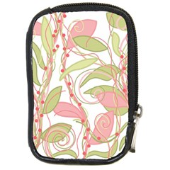 Pink and ocher ivy 2 Compact Camera Cases
