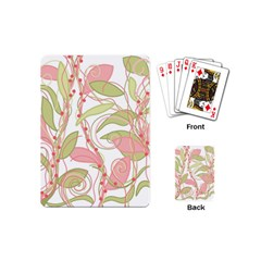 Pink and ocher ivy 2 Playing Cards (Mini)
