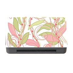Pink and ocher ivy 2 Memory Card Reader with CF