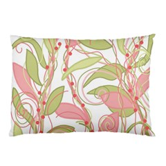 Pink And Ocher Ivy 2 Pillow Case (two Sides)