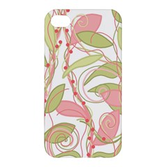 Pink and ocher ivy 2 Apple iPhone 4/4S Hardshell Case