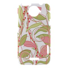 Pink and ocher ivy 2 HTC One X Hardshell Case