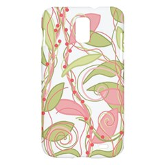 Pink and ocher ivy 2 Samsung Galaxy S II Skyrocket Hardshell Case