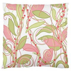Pink and ocher ivy 2 Large Cushion Case (Two Sides)