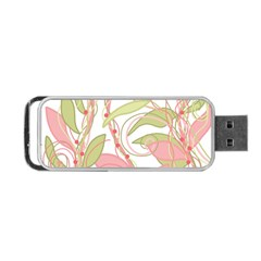 Pink and ocher ivy 2 Portable USB Flash (One Side)