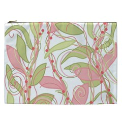 Pink and ocher ivy 2 Cosmetic Bag (XXL)