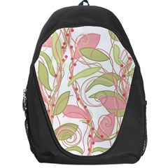 Pink and ocher ivy 2 Backpack Bag
